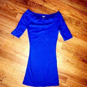 Blue Long Length Shirt from Express